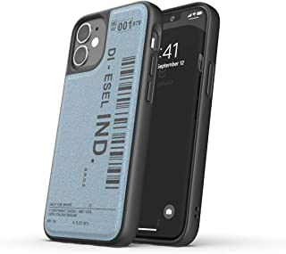Diesel Designed for iPhone 12 / iPhone 12 Pro 6.1 Case, Moulded Denim Core, Shockproof, Drop Tested Protective Cover with Raised Edges, Black/Blue