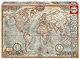 Educa Borras - Genuine Puzzles, Puzzle 1.500 piezas, El mundo, mapa político (16005)