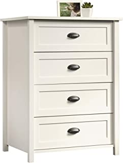 Sauder County Line 4-Drawer Chest, Soft White finish