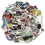 Lanseede 50pcs Pegatinas Stickers para Zapatos de Baloncesto para Air Jordan, Calcomanías de Zapatillas de Marca de Moda para Computadora Portátil, Patineta, Motocicleta, Guitarra, Gabla de Snowboard
