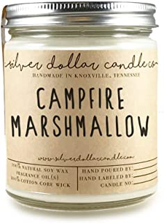8oz Campfire Marshmallow Scented Candle - Natural Eco-Friendly Hand-Poured Soy Wax by Silver Dollar Candle Co.