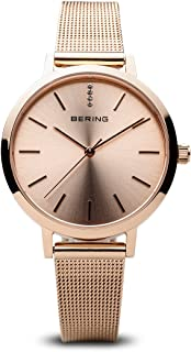 BERING Time 13434-366 Women Classic Collection Watch with Stainless-Steel Strap and Scratch Resistent Sapphire Crystal. Designed in Denmark
