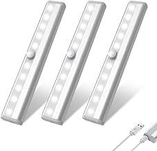 Gluckluz Motion Sensor Light Closet Night Light 10 LED Wireless Lighting for Cabinet Home Garage Cupboard Stairway Hallway...