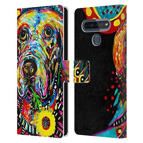 Head Case Designs Licenza Ufficiale Mad Dog Art Gallery Signor Fred Cani Cover in Pelle a Portafoglio Compatibile con LG K51S