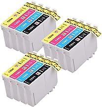 PerfectPrint - 12 (3 juegos de 4) Capacidad de los cartuchos de tinta de alta compatibles para Epson Stylus SX230 SX235W SX420W SX425W SX435W SX440 SX445W SX525WD SX535WD SX620FW y Epson Stylus Office BX305F BX305FW B42WD BX305FW Plus BX320FW BX525WD BX535WD BX625FWD BX635FWD BX925FWD Impr