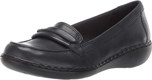 Clarks Wohommes Ashland Lily Loafer,Navy Leather,6 Leather,6 W US  bonne réputation
