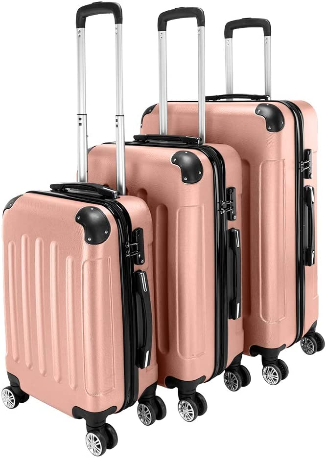 Ochine Special price for a limited High quality time 3 Piece Set Suitcase Spinner Cas Trolley Sets Luggage ABS