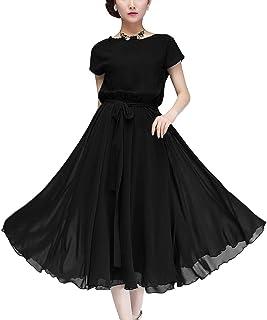 (ビアヴィス)BAvis シフォン ドレス ワンピース フレンチ スリーブ ロング 丈 Aライン フレア レディース 164