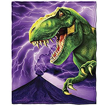 Dawhud Direct T-Rex Super Soft Plush Fleece Throw Blanket
