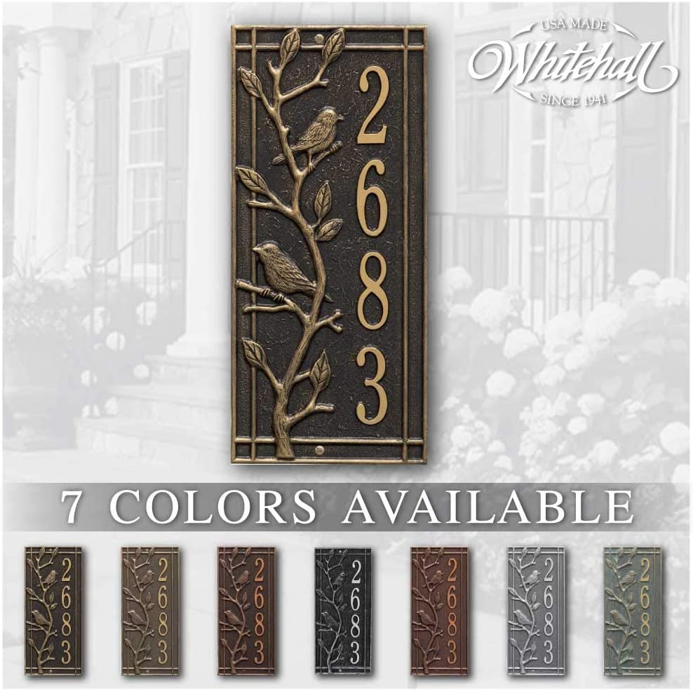 Personalized Cast Metal Address sign. PLA THE VERTICAL 25% OFF Spring new work one after another WOODRIDGE