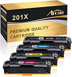 Arcon Compatible Toner Cartridge Replacement for HP 201X 201A CF400X CF401X CF402X CF403X CF400A HP Color Laserjet Pro MFP M277dw M252dw M277n M277c6 M252n M277 Printer (Black, Cyan, Magenta, Yellow)