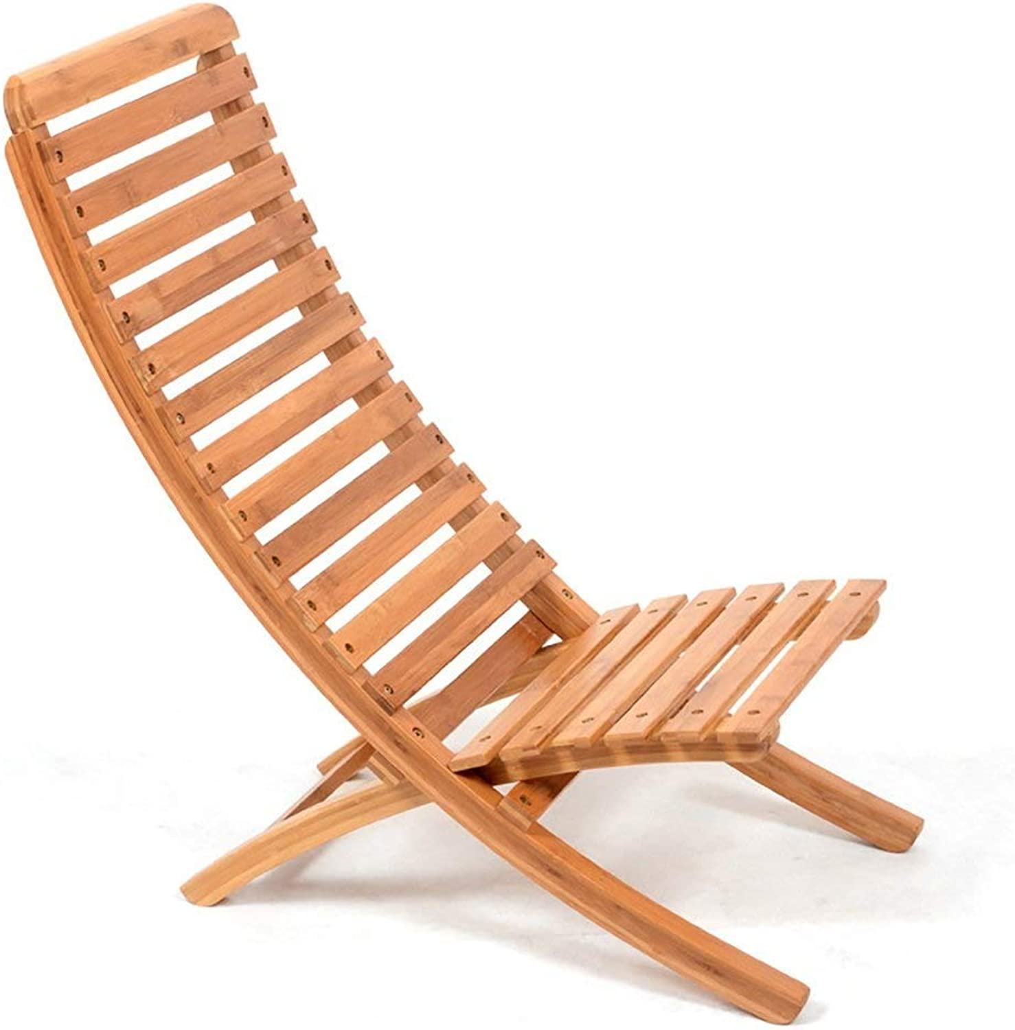 QYYzdy Strand Lounge Chair Massivholz Outdoor Klappstuhl Casual Mittagspause (Farbe   A)
