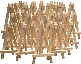 24 Mini Easel Wooden Table Easel Size: H12cm x W7cm