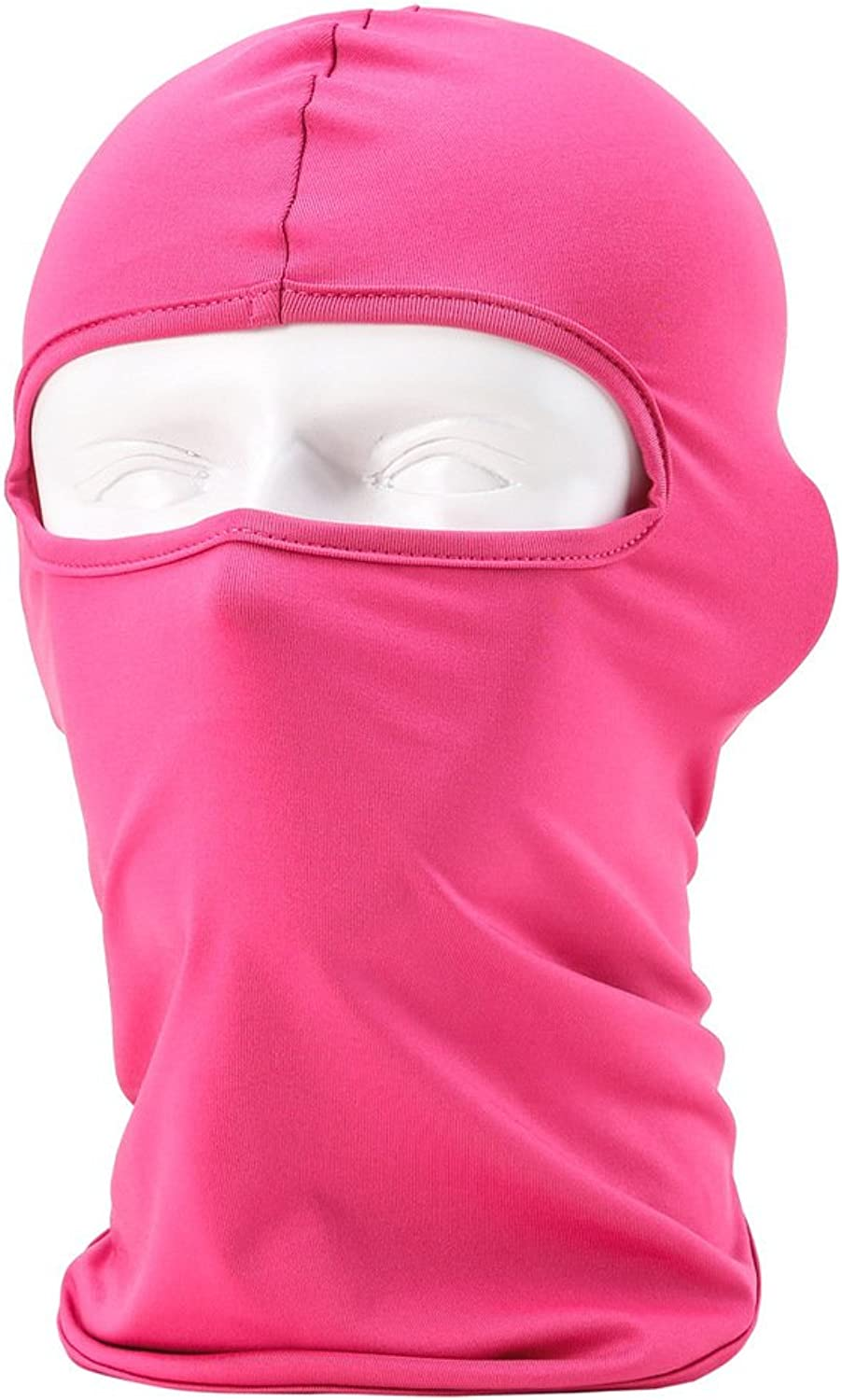 Maoko Motorcycle Outdoor Sports Hood Full Balaclava Windproof Airsoft Riding Face Mask Hat pink