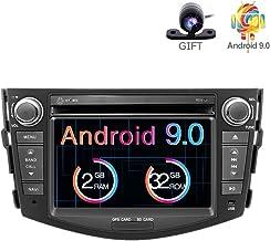 Freeauto Android 9.0 Radio Estéreo 7 Pulgadas Pantalla Multitáctil 2 GB ROM 32 GB ROM Reproductor de DVD Multimedia Soporta Wifi Bluetooth GPS Salida Volante Control para Toyota RAV4 2006 – 2012