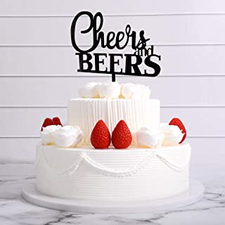 Cheers and Beers Cake Topper on Your Birthday/Wedding/Engagement Party with Your Friends and Family, Celebration Cake Topper