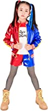 Gherorner Girls Cosplay Costume T Shirt Jacket Clothing Set Halloween Costume for Kids G016XL Blue/Red