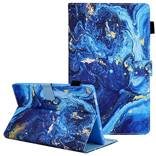 Case for Kindle Fire HD 8 inch 2018 (8th Gen), Amazon Fire HD 8 Case 2017/2016 Version, Coopts Folio Premium PU Leather Stand Auto Sleep Wake Case Cover for Fire HD 8 2018 2017 2016, Blue Marble
