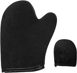 Lurrose 2セット化粧オイルSPA日焼け止めフロッキンググローブ親指女の子のための女性女性レディース(ブラック)