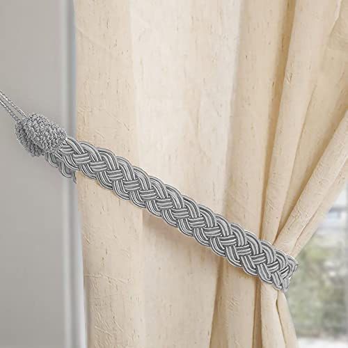 Hand Knitting Curtains Tied Rope Simple Type Curtain Tie Backs And Accessories Grey