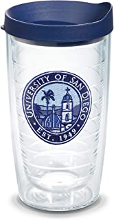 Tervis San Diego University Emblem Individual Tumbler with Lid, 16 oz, Clear -