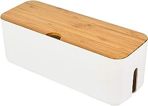 Boîte de gestion des câbles - Boîte de rangement de câbles pour câble d'extension - Bande d'alimentation - Porte-jarretell...