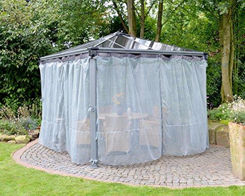 Palram Palermo 3000, 3600 Mosquito net Gartenpavillon Zubehör, Grau, 1x360x217 cm