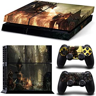 Sony PlayStation 4 Skin Decal Sticker Set - Dark Soul 3 Theme (1 Console Sticker + 2 Controller Stickers)
