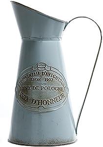 HyFanStr Französischer Stil, rustikaler Krug Vase Metall Krug Blume für Home Decor