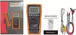 HELYZQ Multímetro digital VC97A com alcance automático DC AC 1000 V DMM Medidor de tensão de corrente diodo