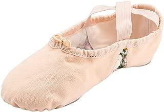 MSMAX Split Sole Canvas Ballet Shoe Women Slip on Flower Flats