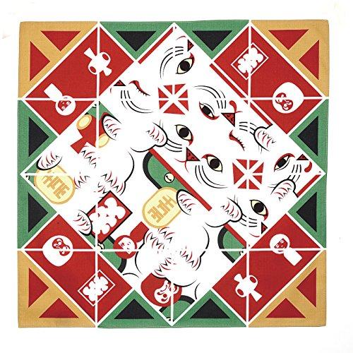 むす美 ふろしき 50 コチャエ 折り紙ふろしき まねき猫
