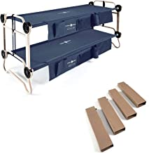 Disc-O-Bed Large Cam-O-Bunk Bunked Double Cot + 7