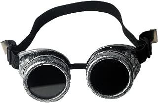 FLORATA DIY Steampunk Goggles, Retro Vintage Victorian Glasses Welding Cyber Punk Gothic Halloween Cosplay Goggles