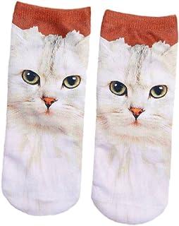 SONONIA女性 かわいい 3D 猫パタン 靴下 動物 アンクルソックス ソックス ソフト 全9パターン - #4