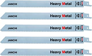 Heavy Duty Metal Cutting Reciprocating Saw Blades, 12-Inch 14TPI M42 Bi-Metal +8% Cobalt Reciprocating Saw Blade For Thick...