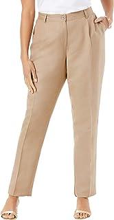Women's Plus Size Linen Pleat-Front Pant