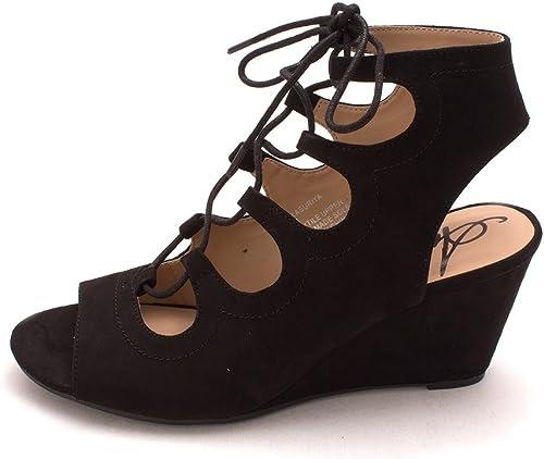 American Rag Femmes Sandales à Talon Couleur Noir noir Taille 40 EU   9 Us