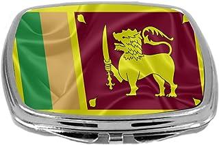 Rikki - Espejo compacto, diseño de bandera de caballero, (Sri Lanka), 3 oz