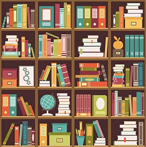 OERJU 12x10ft Modern White Bookshelf Backdrop Bookcase Clean Book Store Photography Background Boys Girls Students Adults Portrait Photo Online Classes and Teacher Courses Video Shooting Props