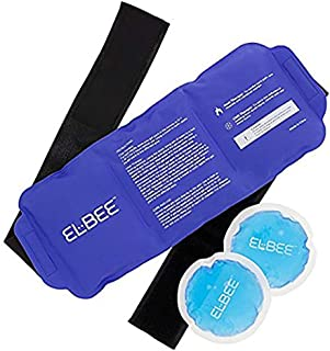 Elbee Home EB-700 Wrap Around Hot and Cold Gel Pack and Colling Pads Quick Easy Pain Relief, Large, Blue Purple