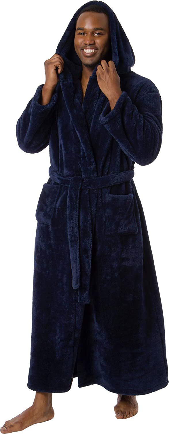 Ross Michaels Mens Robe Big Tall Long - Plush Max 88% Super popular specialty store OFF Hood 400GSM with