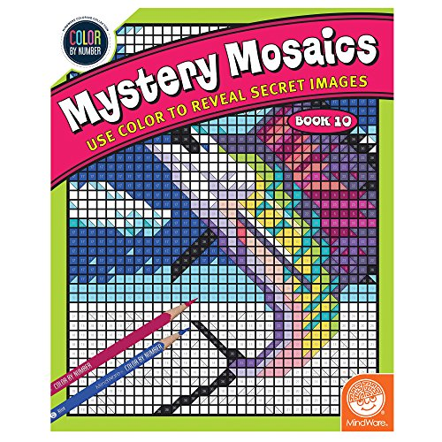 MindWare Color by Number Mystery Mosaics: (Book 10)