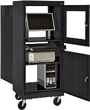 Sandusky JG2663-09/BLK Black Steel Mobile Computer Security Workstation, 150 lbs Capacity, 26