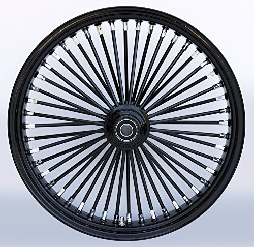 21X3.5 BLACK FAT KING 48 SPOKE S/D FRONT WHEEL HARLEY TOURING BAGGER, SOFTAIL FSXT, FXDWG 2000-07
