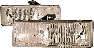 For 1995 1996 1997 1998 1999 2000 2001 2002 2003 2004 2005 Chevrolet/Gmc Astro   Safari Vn Van Headlights Headlamps Pair Set Replacement GM2502136 GM2503136