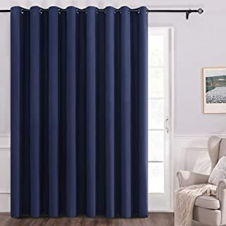MIULEE Sliding Door Vertical Blinds 100% Blackout Room Divider Curtain Panel with Grommets for Balcony Bedroom Set of 1 100 W x 84 L Navy Blue