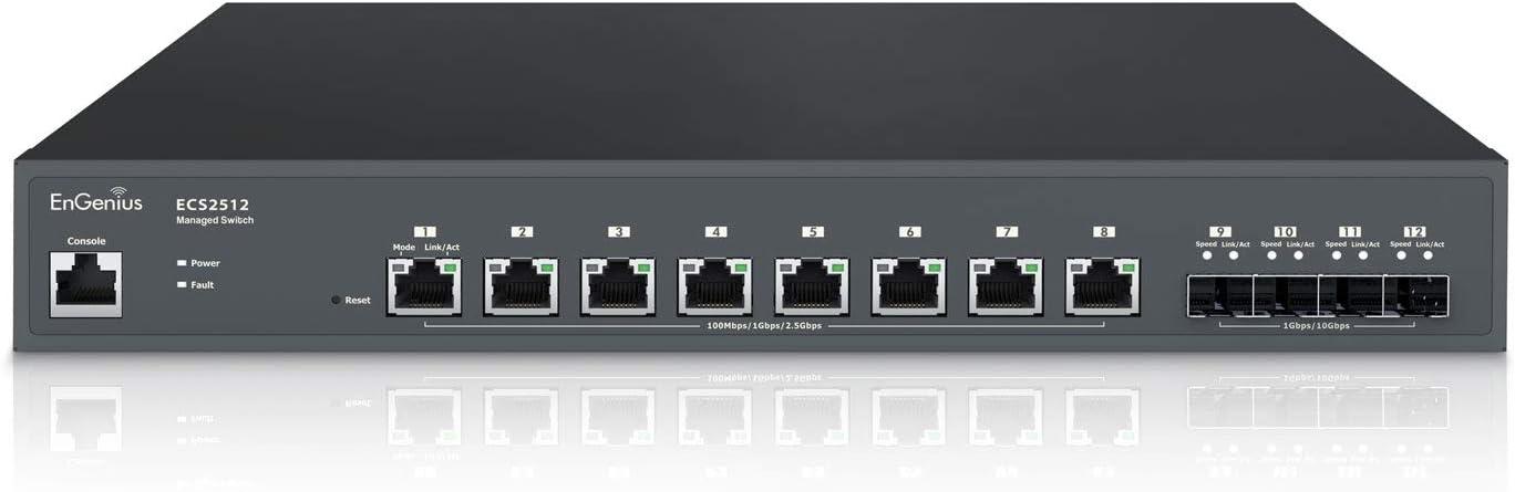 EnGenius Cloud Multi-Gigabit ECS2512 Spasm price 8-Port SFP+ Brand new 4 10G with 2.5G