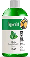 16oz - Bulk Size Peppermint Essential Oil (16 Ounce Total) - Therapeutic Grade Essential Oil - 16 Fl Oz Bottle