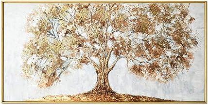 Pintura al óleo pintada a mano del árbol de oro Tablero de dibujo grande 3D Sala de estar moderna Pintura de la lona de la pared 40X80cm